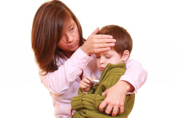 сколько держится температура при фарингите у ребенка