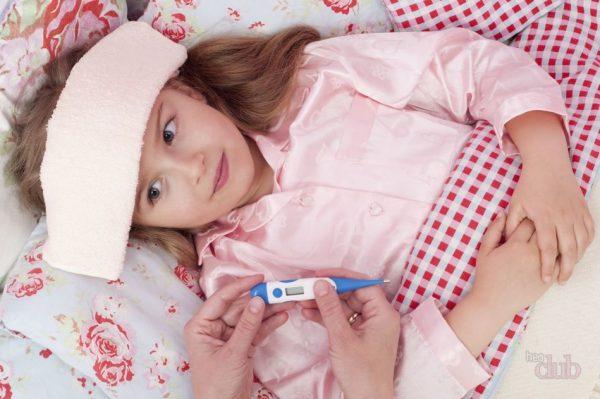 компресс уксусный от температуры для детей