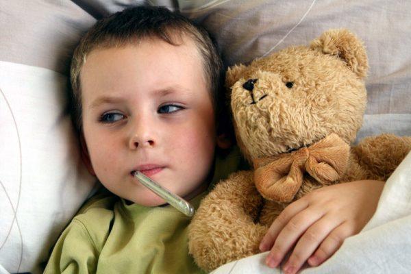 температура и больше ничего у ребенка