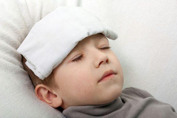 у ребенка температура 41