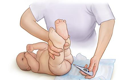 какая должна быть температура у месячного ребенка